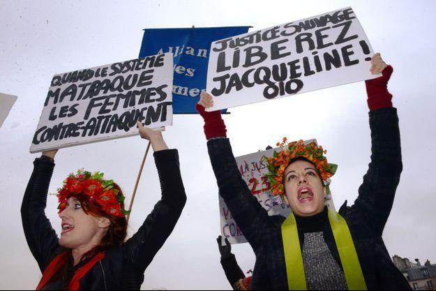 Manifestation en soutien à Jacqueline Sauvage à Paris