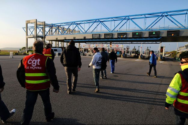 Le blocage du Pont de Normandie mercredi