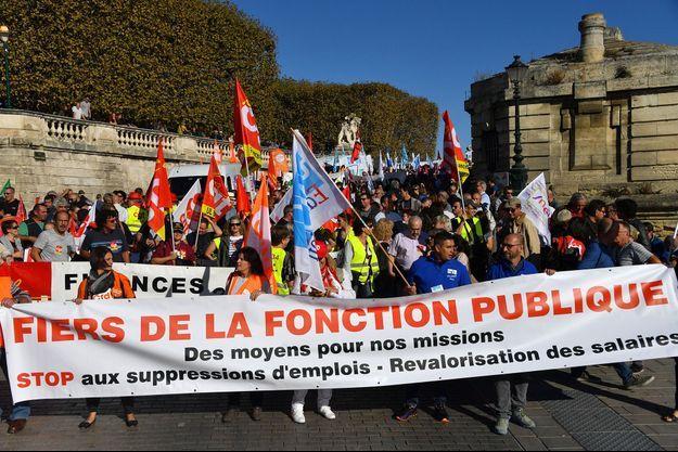 Des manifestants à Montpellier mardi.