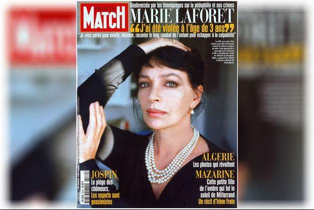 Marie Laforêt en couverture de Paris Match, n°2539, daté du 22 janvier 1998.