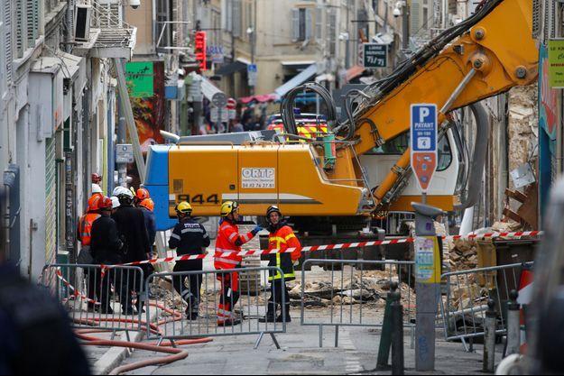 Les décombres à Marseille.