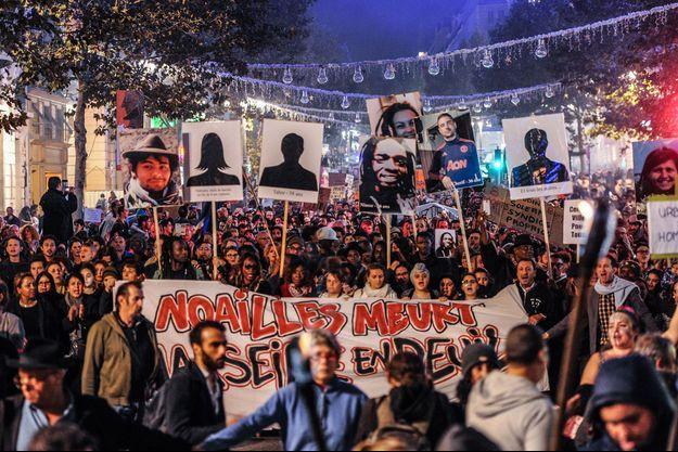 La Marche de la colère à Marseille, mercredi.