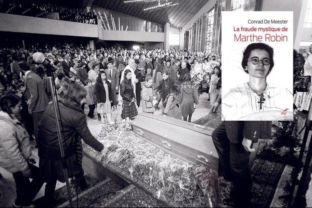 Quatre évêques et 200 prêtres assistent aux funérailles de Marthe Robin le 12 février 1981 à Châteauneuf-de-Galaure.