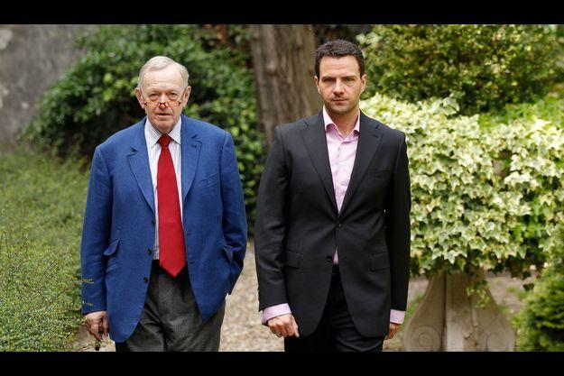 Me Metzner avec son ancien client, Jérôme Kerviel, en 2010.