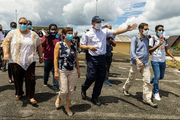 La ministre des Outre-mer Annick Girardin, en déplacement mardi et mercredi, en Guyane.