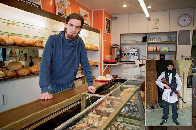 Younès, dans sa boulangerie, à Anvers, samedi 19 septembre.