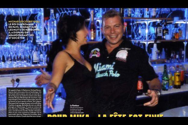 Mika dans une des nombreuses discothèques qu'il s'est offertes. Il a baptisé celle-ci L'Etoile, comme son club parisien préféré.