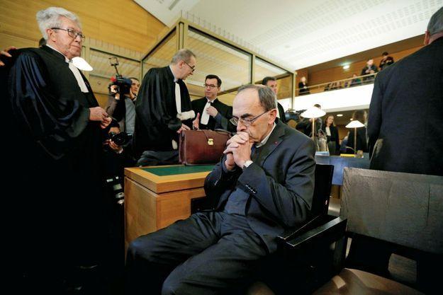 Le cardinal Barbarin, juste avant son audience, le 7 janvier. Il a reconnu avoir été alerté la première fois « vers 2007-2008 sur les comportements » de l'abbé Preylat.