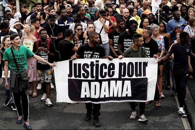 Une manifestation en soutien à Adama Traoré, en 2019.