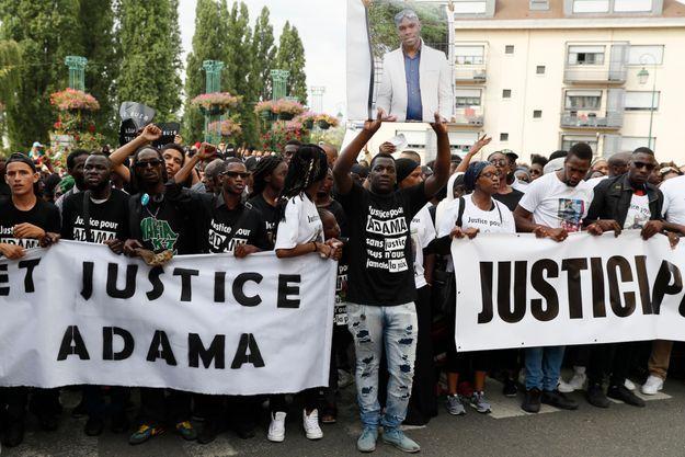 Manifestation pour Adama en juillet 2016.