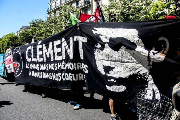 Rassemblement en mémoire à Clément Méric en juin 2015 à Paris.