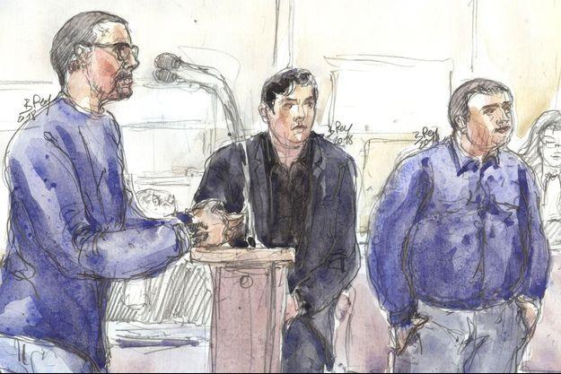 Samuel Dufour à l'audience du procès de la mort de Clément Méric.