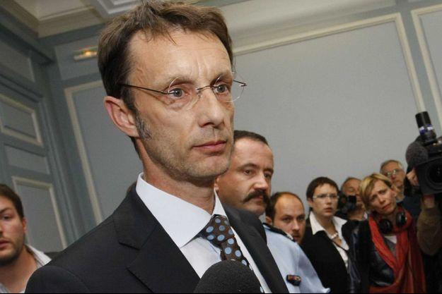 Le procureur de Grenoble Eric Vaillant, ici photographié en 2010 lors d'une conférence de presse.
