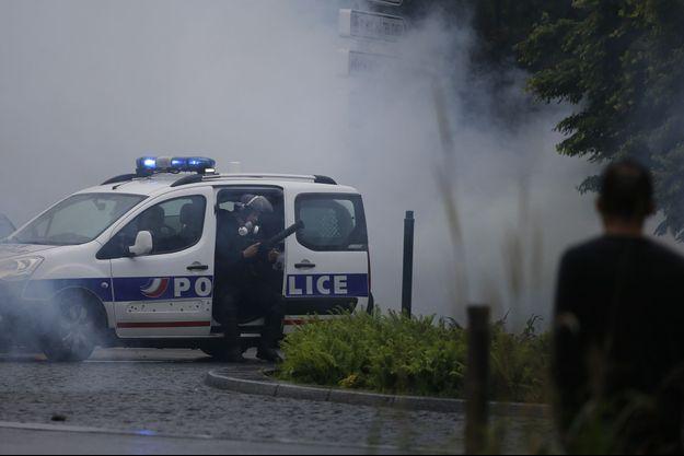 Des policiers lors de la manifestation contre la loi travail le 3 mai à Nantes - photo d'illustration.