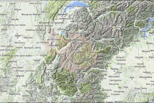 D'importante chute de neige ont eu lieu en Savoie