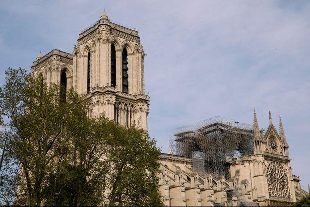 La cathédrale Notre-Dame, le 18 avril 2019.