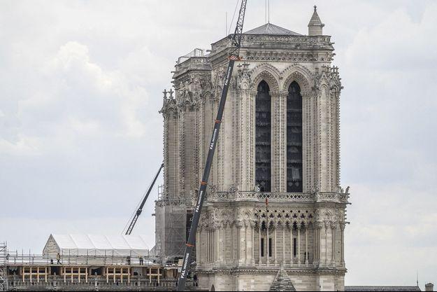 Le chantier de Notre-Dame de Paris, en juin dernier.
