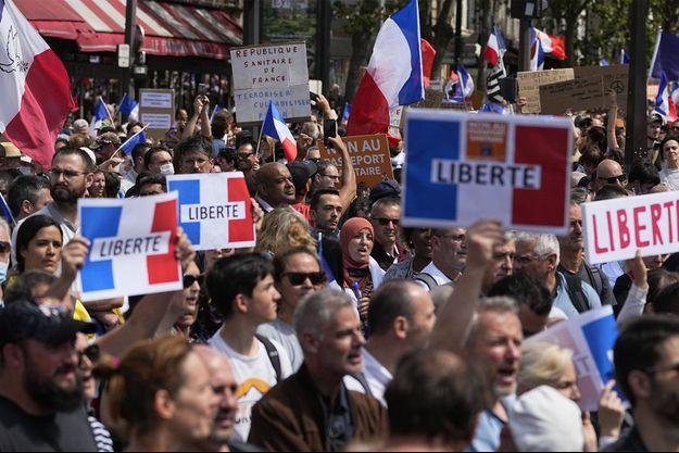 La manifestation à Paris, samedi 31 juillet.