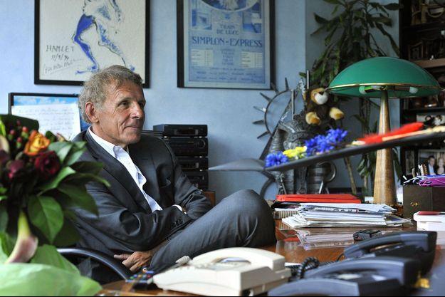 Patrick Poivre d'Arvor dans son bureau de TF1 en juin 2008.