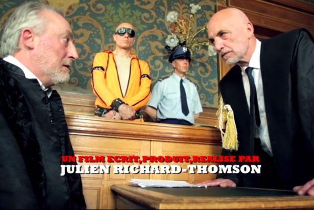 Une scène du teaser du film «Korruption», tournée à la mairie d'Asnières.