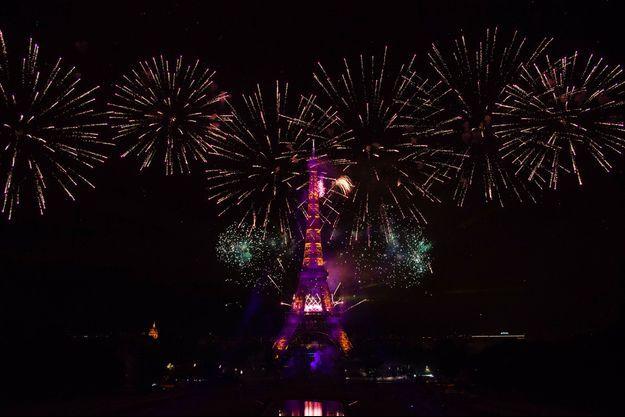Feu d'artifice à Paris.