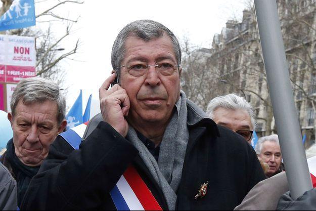 Patrick BAlkany, ici en janvier 2013, lors d'une manifestation.