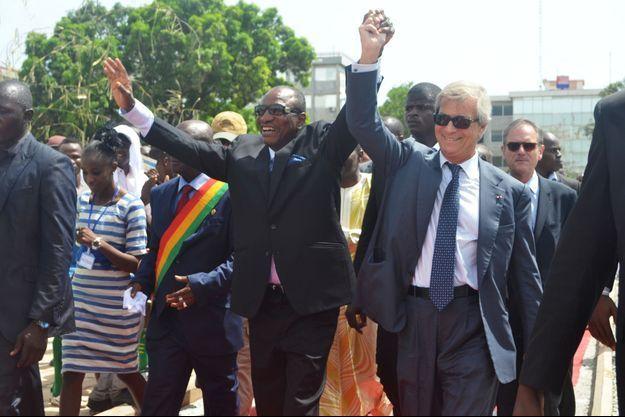 Vincent Bolloré et le président guinéen Alpha Condé