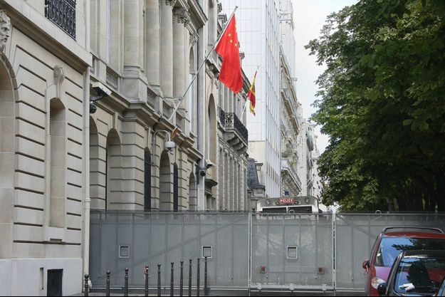 L'ambassade de Chine, à Paris, en 2008 (image d'illustration).