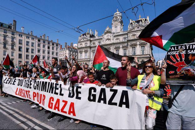 Manifestation à Lyon, le 26 juillet dernier