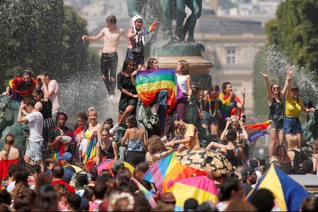 La Marche des fiertés 2019 à Paris.