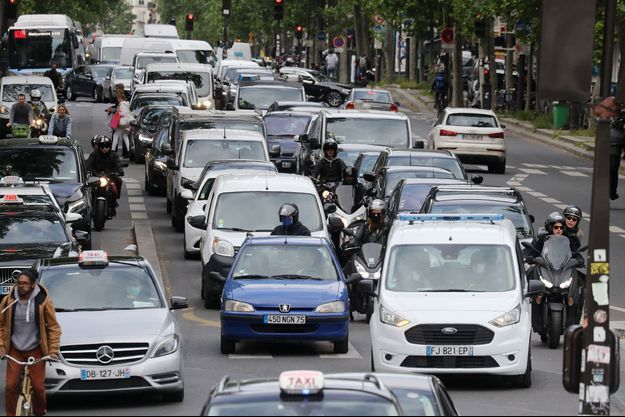 Le trafic routier à Paris.