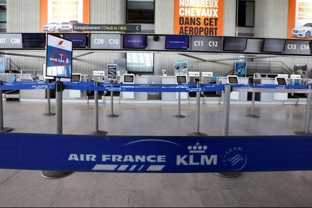 Photo prise à l'aéroport de Nice le 13 avril.