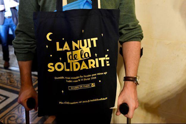 Image de la Nuit de la Solidarité en 2018.