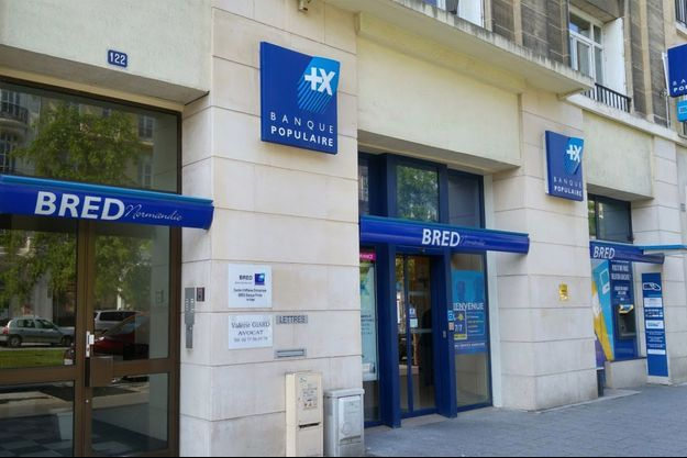 Capture d'écran illustrant la banque Bred au 122 boulevard de Strasbourg au Havre