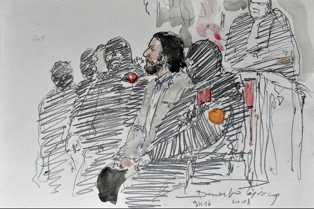 Salah Abdeslam lors de son procès à Bruxelles.
