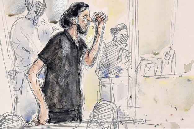 Salah Abdeslam au tribunal de Paris, le 8 septembre 2021.