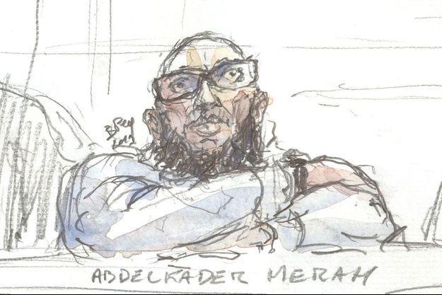 Abdelkader Merah à son procès.