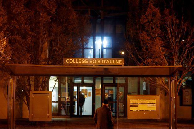 L'entrée du collège du Bois d'Aulne.