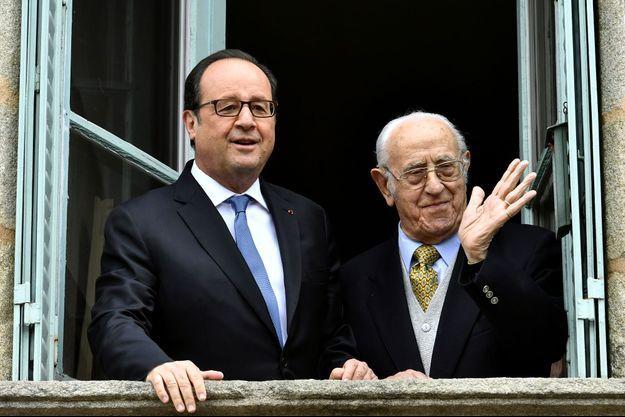 François Hollande et Jean Viacroze, en 2017.