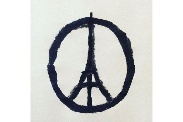 Attribué à tort à Banksy, ce dessin est l'oeuvre de l'artiste français installé à Londres, Jean Jullien.