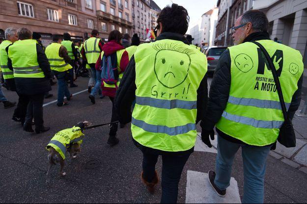 "Des ""gilets jaunes"" à Strasbourg samedi."