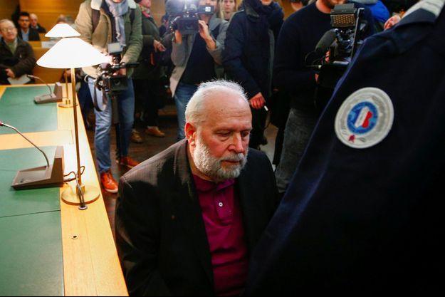 Bernard Preynat, au tribunal correctionnel de Lyon, le 14 janvier 2020.