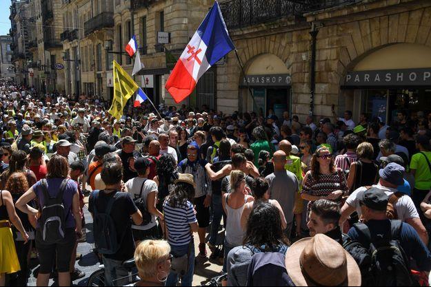 Manifestation de «gilets jaunes» à Bordeaux, le 1er juin 2019.
