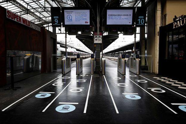 Un quai de la Gare de l'Est, à Paris.