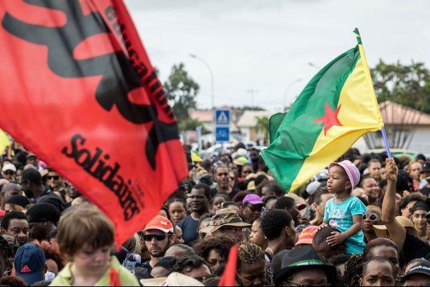 En mars dernier, de nombreuses manifestations avaient été organisées en Guyane.