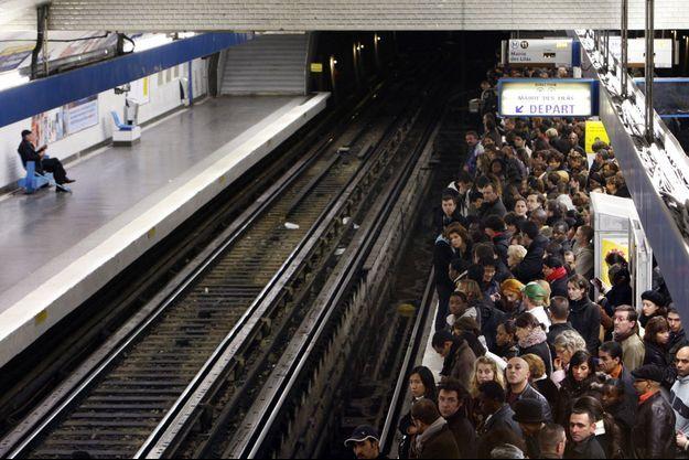 Grèves à Paris, en 2007.