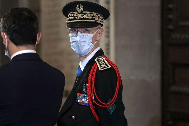 Le préfet de police Didier Lallement, ici lors d'une cérémonie au Panthéon en septembre.