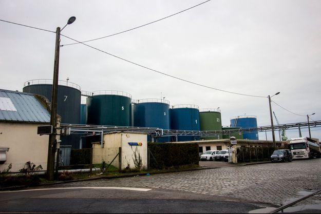 Photo prise dans la zone portuaire du Havre.