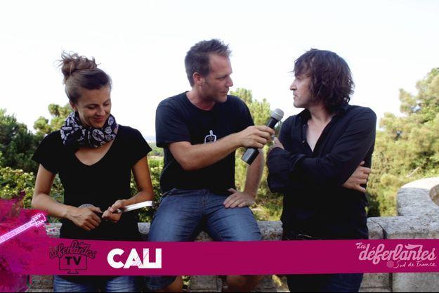 Nicole Ferroni, Rémi Gaillard et Cali lors des Déferlantes, en 2015. Cali sera de la fête au festival Anymal le 18 novembre, au Zénith Sud Montpellier.