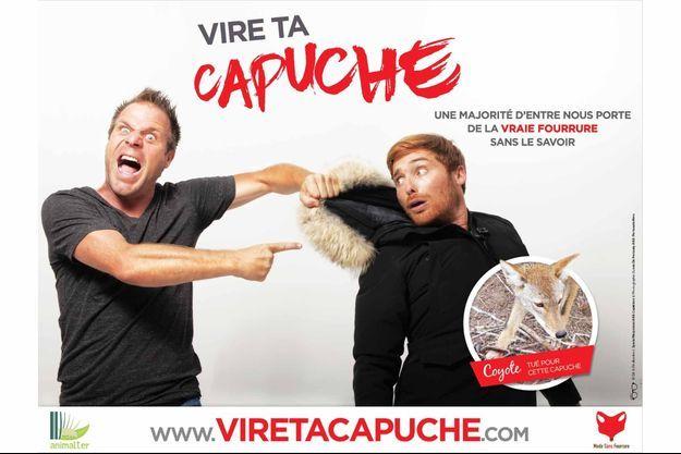 "L'affiche de la campagne ""Vire ta capuche""."